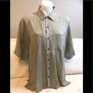 Men's Joseph & Feiss Green Button Down Shirt